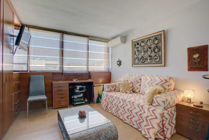 AT017 Inmobiliaria Bobis Ático Centro Marbella con vistas al mar dormitorio